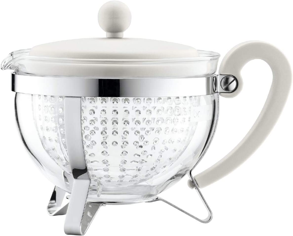Bodum Chambord 1-Liter Tea Pot, 34-Ounce, Off-White