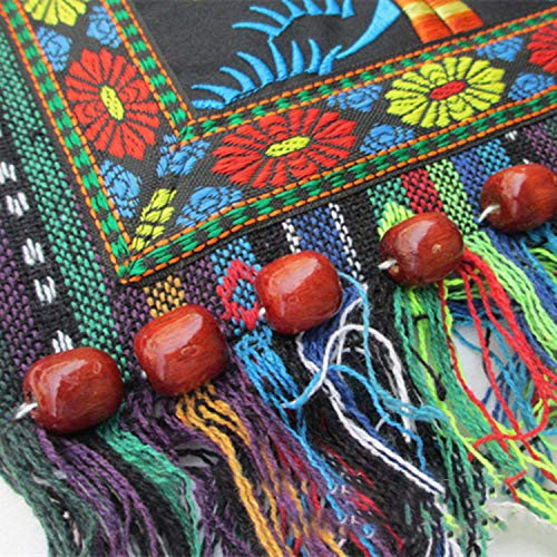 TOOGOO Vintage Messenger Shoulder Embroidery Hippie National Tote Hmong Tassel Chinese Ethnic Boho Bag Style qrx5qROn