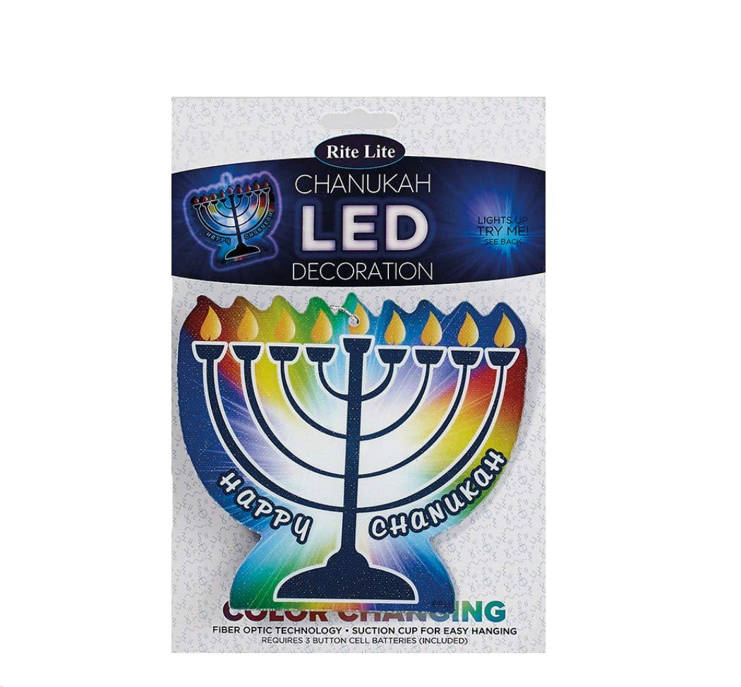 LED Color Changing Fiber Optic Menorah Decoration Quality Judaica
