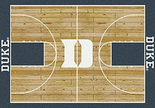 Milliken 4000018444 Duke College Home Court Area Rug, 5'4