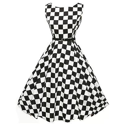 Women Dress, Gillberry Women's Vintage O-Neck Printed Party Retro A-Line Swing Dress