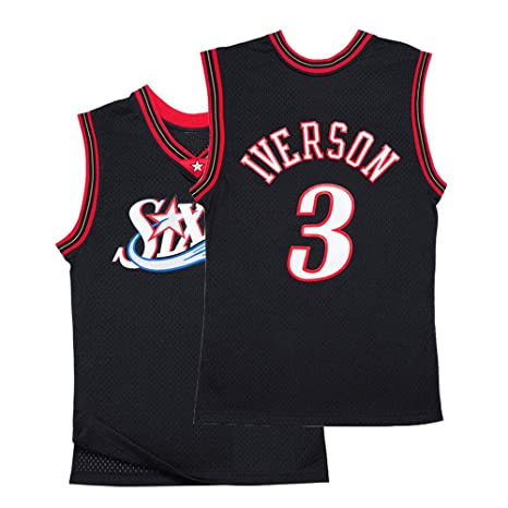 new styles ab497 bddb8 Youth Iverson Jersey Philadelphia 3 Allen Kids Basketball Boys