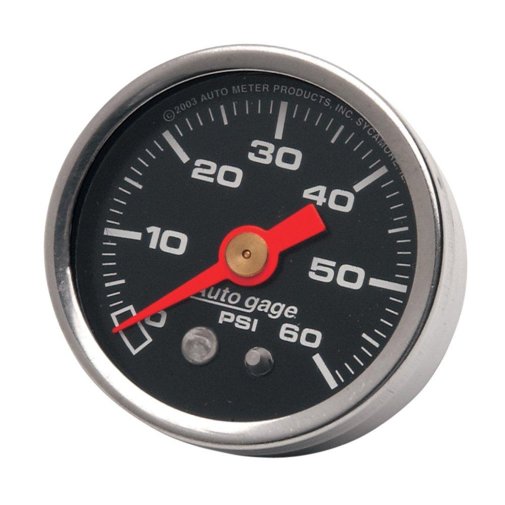 Autometer Black 60 PSI Oil Pressure Gauge for Harley-Davidson - HC-OPG-60B 4333041757