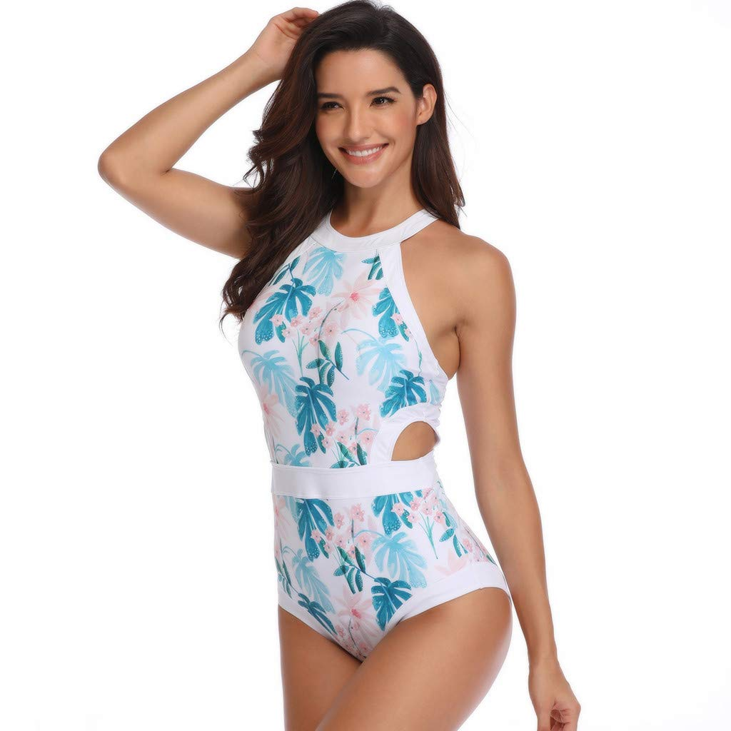 Mommy and Me Swimsuit Mother Daughter Floral Print Bikini Set Bathing Suit One-Piece Family Matching Swimwear