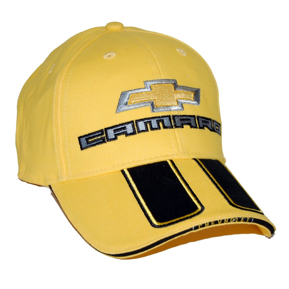 High-End Motorsports Hat for Chevrolet Camaro SS, Yellow with Rally Strips 4350412478