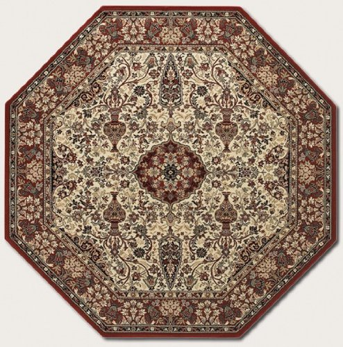 Couristan 3760/6004 Everest Ardebil/Ivory-Red 3-Feet 11-Inch Octagon Rug (3'11 Octagon Area Rug)