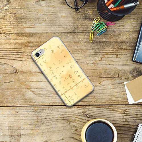 WoowCase Hülle Case für [ iPhone 7 ] Handy Cover Schutzhülle Ägiptische Kunst und Einmeißeln