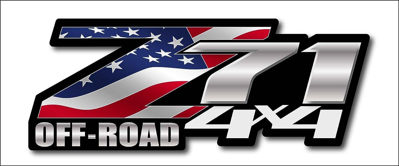 Amazon.com: Bandera americana Chevy Z71 4 x 4 calcomanías ...
