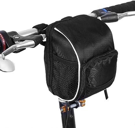 VGEBY Bolsa Delantera para Bicicleta, sillín de Almacenamiento para el Manillar de Bicicleta de montaña Bolsa de Bastidor Delantero para Bicicleta Accesorios de ...