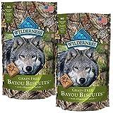 BLUE Wilderness Grain-Free Bayou Biscuits with Alligator & Catfish Dog Treats 8-oz, 2 Pack