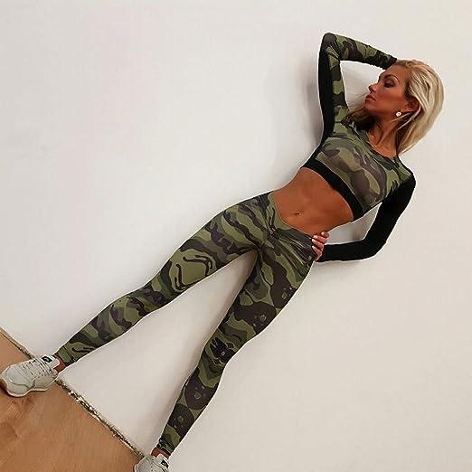 Femme 2 Pi/èce Casual Ensemble de Sportswear Ensembles Surv/êtement Yoga Manches Longues Sweatshirt ZEZKT Sportswear Femme Pantalons Tenue de Sport pour Jogging Athletisme Gym