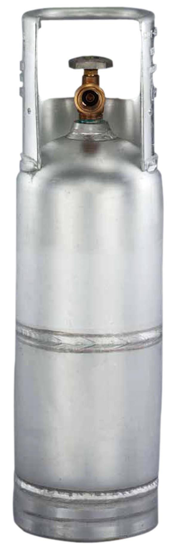 Worthington 299494 6-Pound Aluminum Propane Cylinder With Type 1 With Overflow Prevention Device Valve