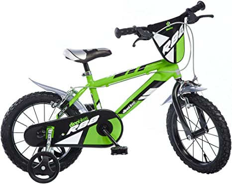 Dinobikes Kinderfahrrad Bicicleta, Niños, Verde, 16 Pulgada ...