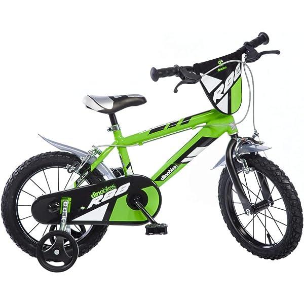 Dinobikes Kinderfahrrad Bicicleta, Niños, Verde, 16 Pulgada: Amazon.es: Deportes y aire libre