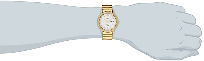 59b75a8b163d Timex T21942 Chambers Street Gold-Tone - Reloj de pulsera para hombre (acero  inoxidable)  Timex  Amazon.com.mx  Relojes