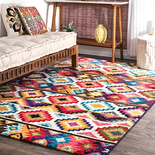 nuLOOM Ritzy Contemporary Retro Area Rug, 5' x 8', Multi (Modern Rugs For Living Room Color)