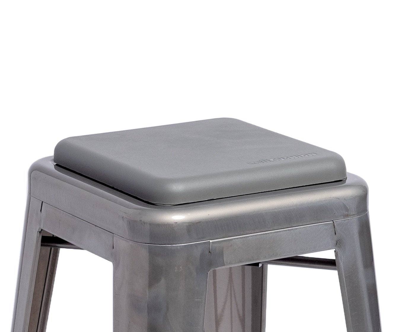 Sofft Cushion Square Seat Cushion for Metal Bar Stools or Chairs - Cushion Only (Gray)