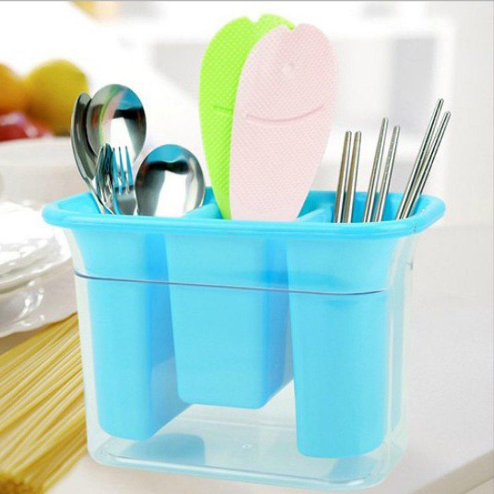 Amazon.com - Plastic Utensils Holder For Kitchen Dining, 3 ...