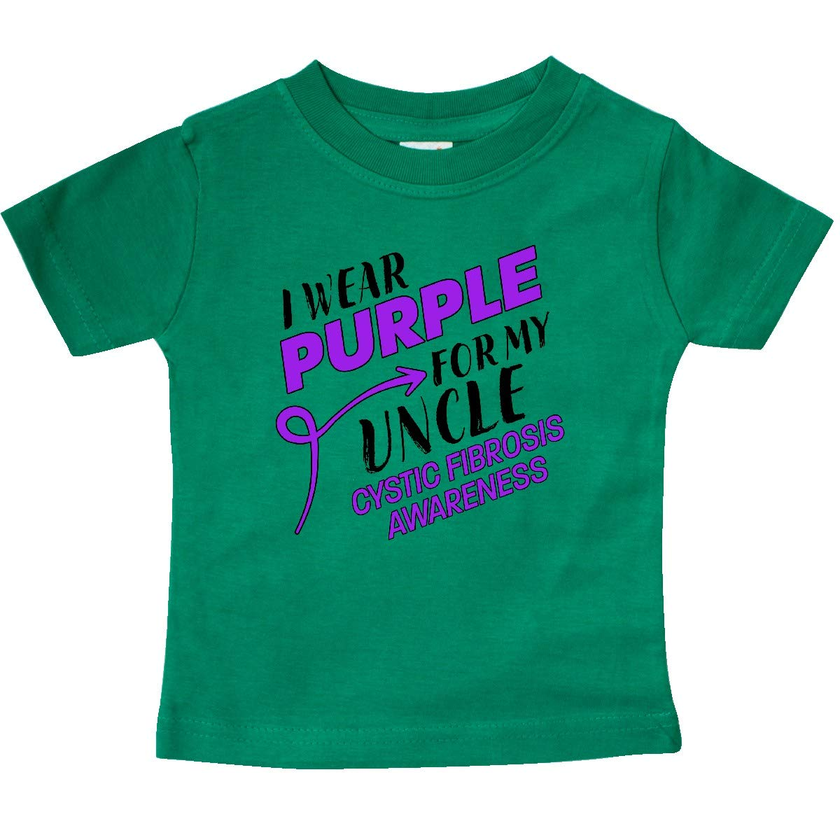 Cystic Fibrosis Awareness Baby T-Shirt inktastic I Wear Purple for My Uncle