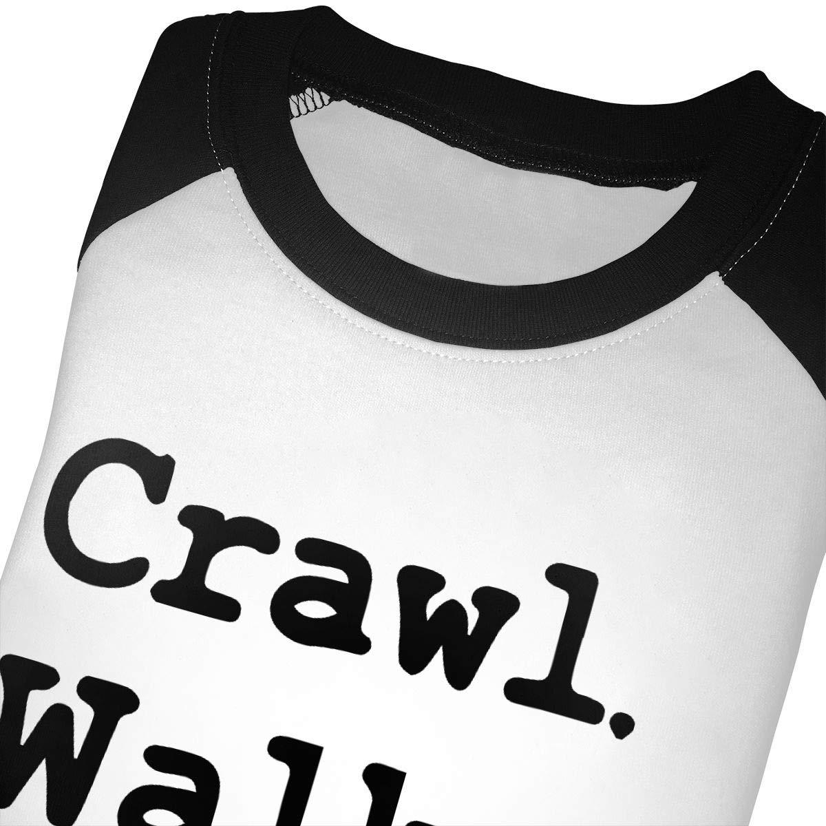 Crawl Walk Ride Unisex Toddler Baseball Jersey Contrast 3//4 Sleeves Tee