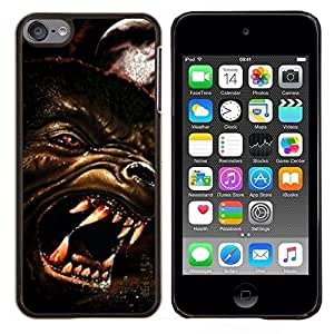 Stuss Case / Funda Carcasa protectora - Lobo enojado Perro Red Eyes Arte Cara Dientes Hocico - Apple iPod Touch 6 6th Touch6