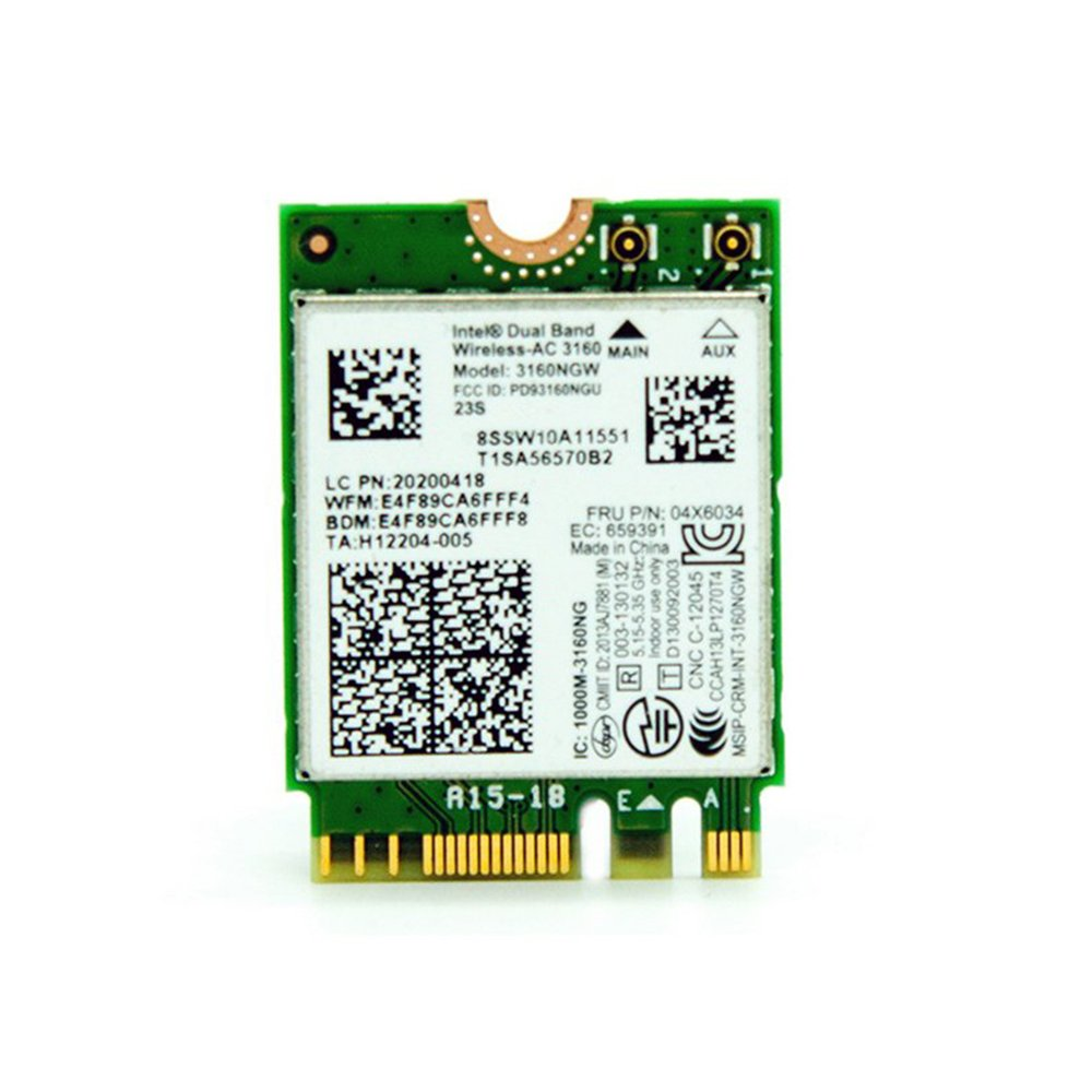 Huimai Intel 802.11AC AC3160 3160NGW NGFF PCI e M.2 2.4G 5G ...
