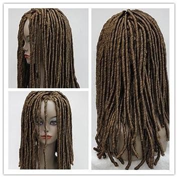 Peluca Negra Africana Wiged Peluca Peluca Trenzas Negras Etapa Gucci,No. 27-33