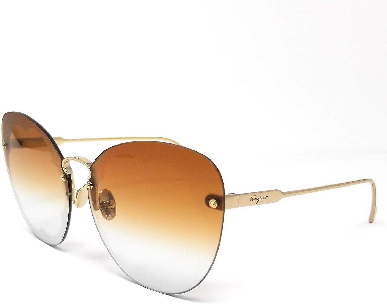 Sunglasses Ferragamo Sf 178 S Fiore 730 Shiny Gold Burnt Mint At Amazon Women S Clothing Store
