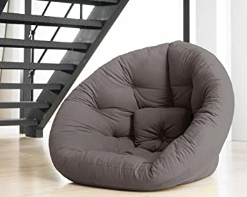 Futonsessel Nest In Grau Sessel Relaxsessel Schlafmoglichkeit