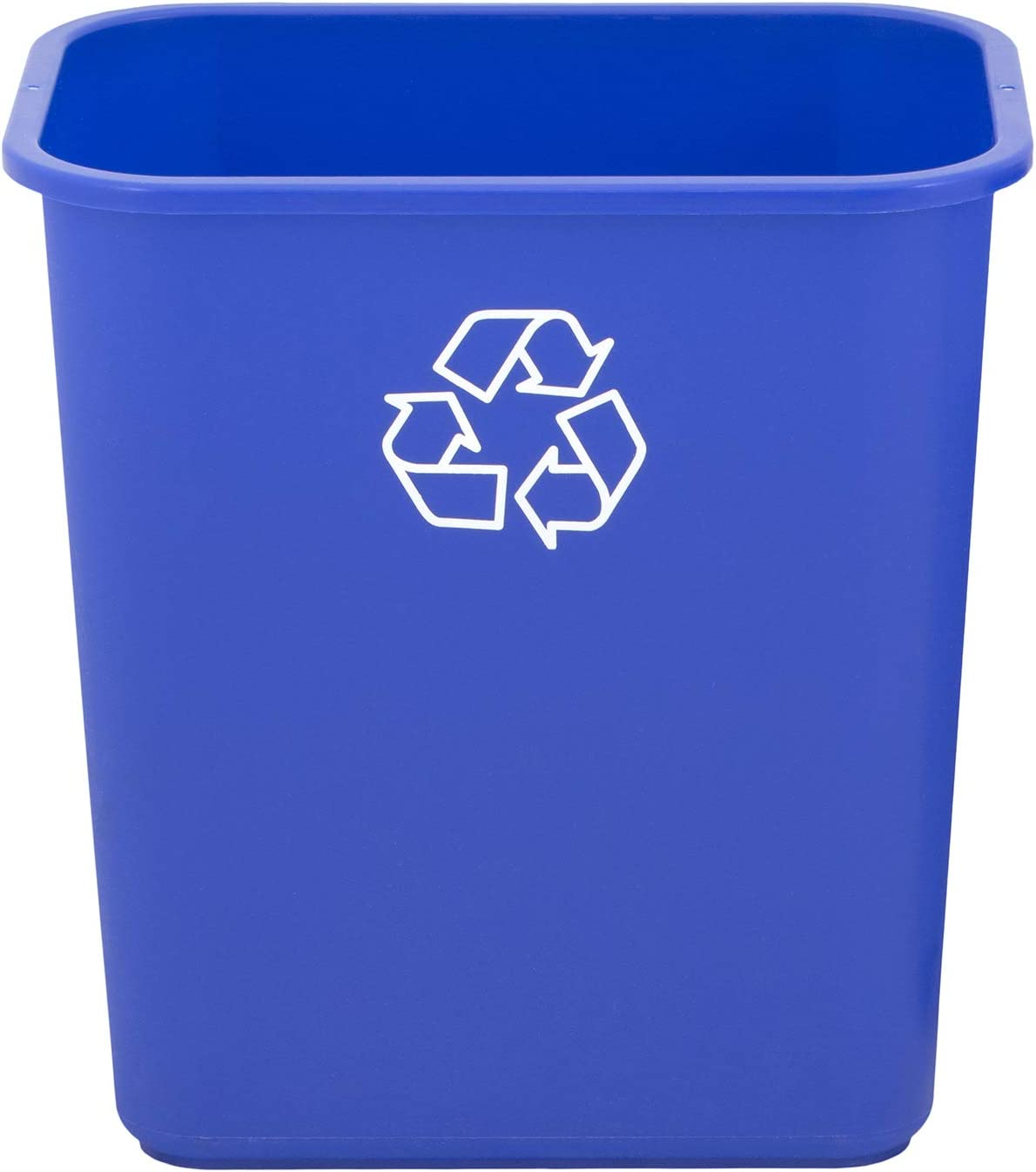 United Solutions WB0324 7 Gallon/28 Quart Efficient Recycle Wastebasket | Pack of 12 | Fits Under Desk | Small, Narrow Spaces in Commercial, Kitchen, Home Office, Dorm | Easy to Clean, 12 Pack, Blue