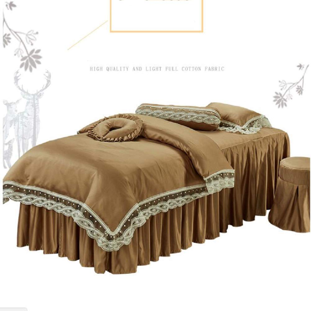 European luxcury Beauty Bed Cover, Tattoo Printed Massage Table Sheet Sets Massage Table Sheet Sets Physiotherapy bedspreads -Brown 185x70cm(73x28inch)