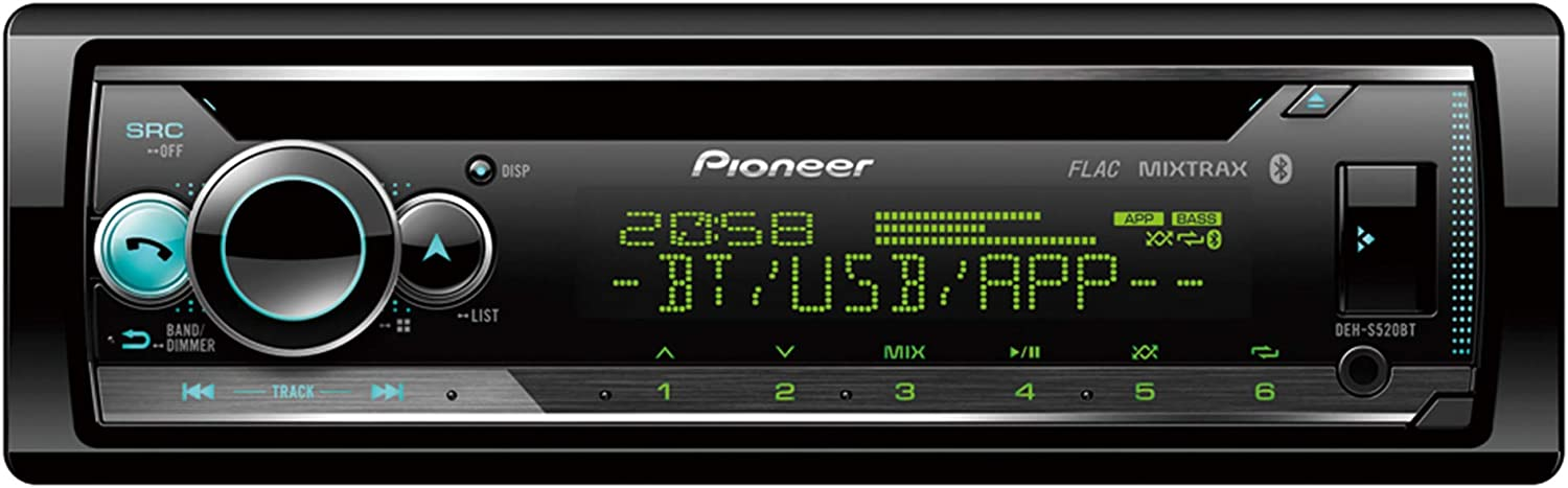 Pioneer Autorradio DEH-S520BT CD, Bluetooth, USB, Spotify