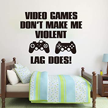Amazon com: Wall StickerDo Not Lag Does Wall Sticker Gaming