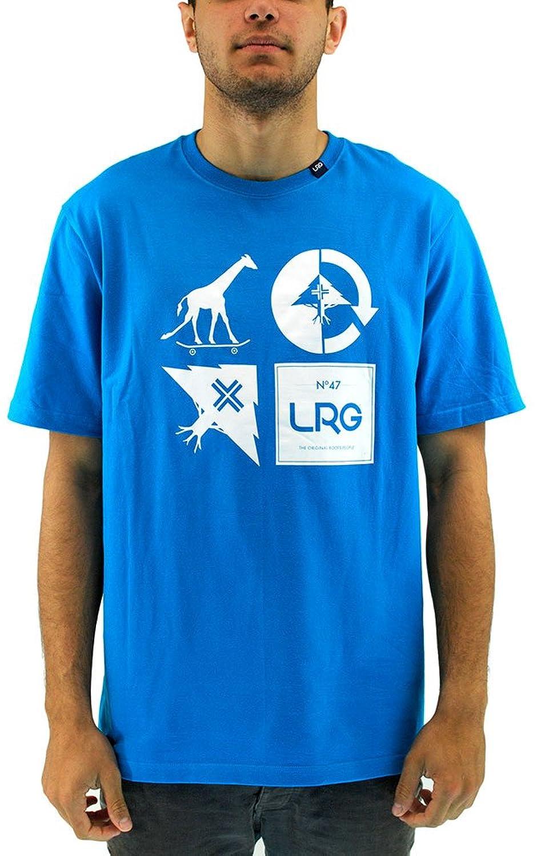 LRG Men's RC Logo Mash Up T Shirt Blue