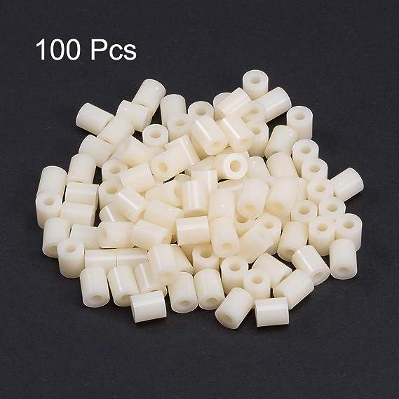 uxcell 200pcs Nylon Round Straight Pillar Insulating Tube PCB Spacer Standoffs 3x7x3mm