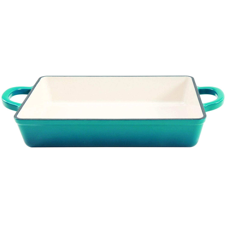 Crock Pot 112008.01 Artisan 13 Inch Enameled Cast Iron Lasagna Pan, Teal Ombre by Crock Pot