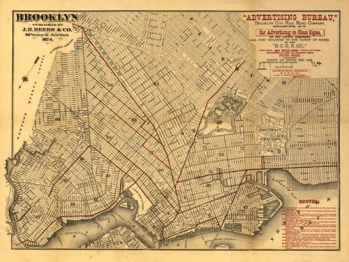new york old map - 1