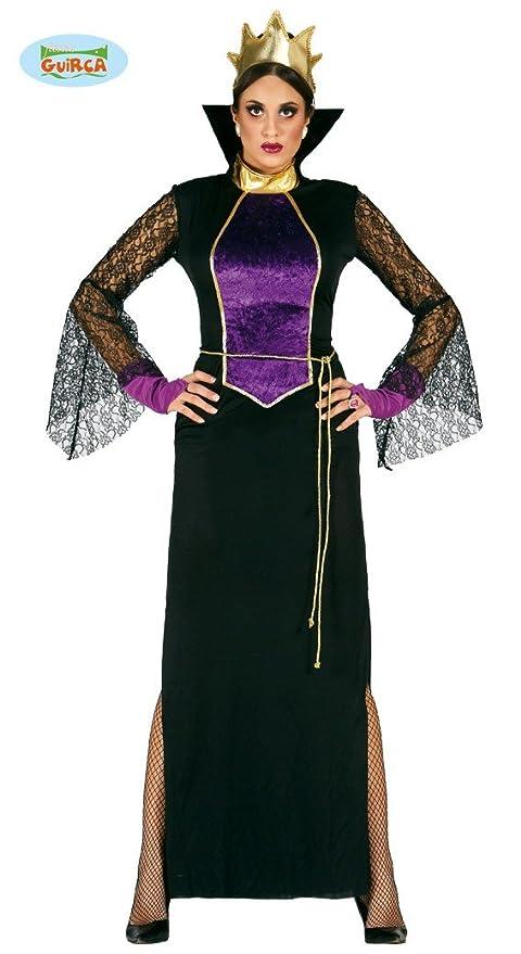 d20da36bf7d8 Guirca- Costume Grimilde Regina Strega Biancaneve, Colore Nero, Viola,  Taglia única,