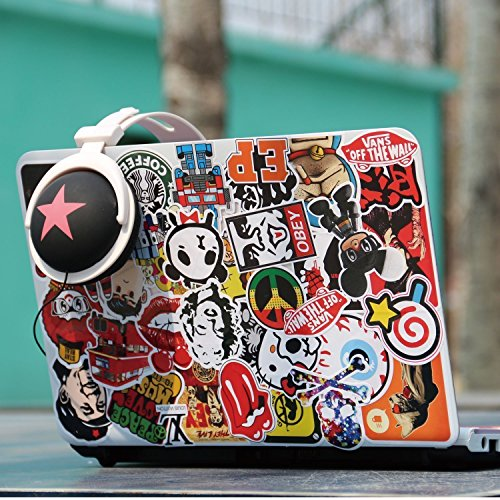 KONLOY Sticker Pack 200-Pcs Sticker Decals Vinyls for Laptop,Kids,Cars,Motorcycle,Bicycle,Skateboard Luggage,Bumper Stickers Hippie Decals bomb Waterproof (200Pcs) by KONLOY (Image #1)