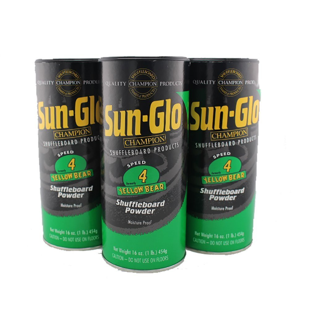 3 Pack Sun-Glo #4 Speed Shuffleboard Powder Wax by Sun-Glo