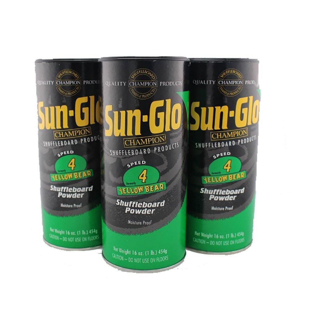 3 Pack Sun-Glo #4 Speed Shuffleboard Powder Wax