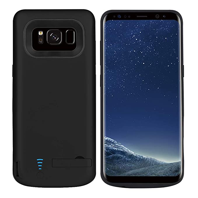 purchase cheap a6c81 6471c RUNSY Samsung Galaxy S8 Plus Battery Case, 6500mAh Rechargeable Extended  Battery Charging Case, External Battery Charger Case, Backup Power Bank  Case ...