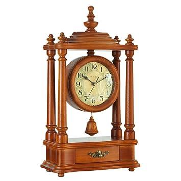 Relojes de escritorio decorativos retros antiguos antiguos de 10 pulgadas Movimiento de cuarzo Reloj de péndulo