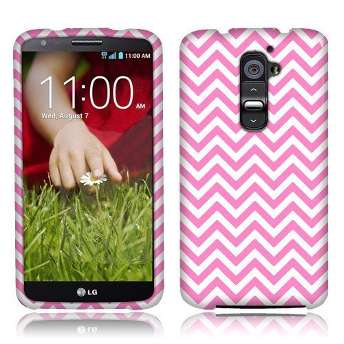 (Nextkin LG Optimus G2 (AT&T, Sprint, T-Mobile Only) D800 D801 D802 LS980 Silicone Skin Soft TPU Gel Protector Cover Case - Pink Mini Chevron)