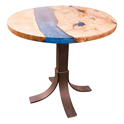 Amazon com: Hope Woodworking Round Live Edge River Pub Table
