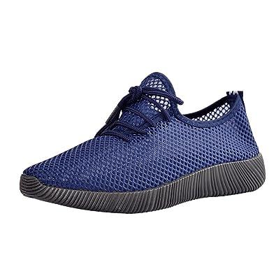 GongzhuMM Homme Chaussures de Sport Mesh Couleur Unie Baskets Sneakers  Chaussures de Course Chaussures de Randonnée de89febaf16d