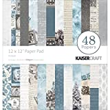 """Kaisercraft Paper Pad 12""""X12"""" 48/Pkg-Frosted"""