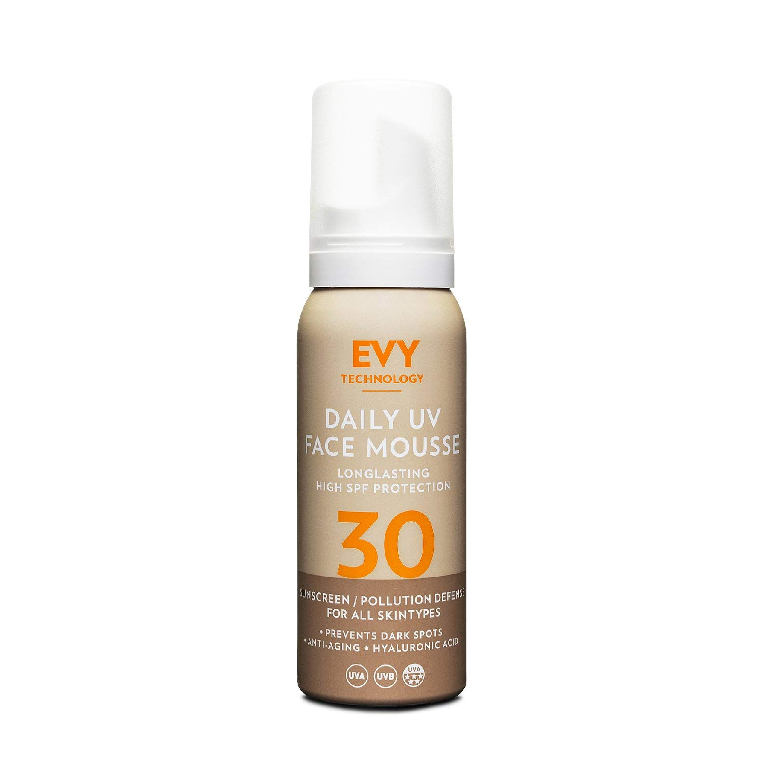 Evy Sunscreen Daily UV Face Mousse SPF30 75ml
