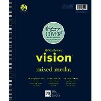 "Strathmore 662-61 Vision Mixed Media Pad, 11"" x 14"""