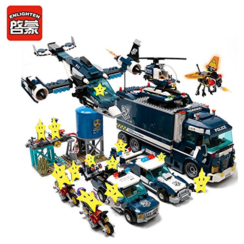 Enlighten Building Block City Police Station SWAT Headquarter 14 Figures 1708pcs Bricks-Without Original Packing Box